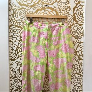 Lilly Pulitzer Loungin Lions Ankle Pants Green